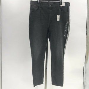 Express ankle legging high rise jeans black 18 NWT